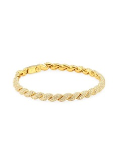 Flexible Pave Swarovski Crystal Link Bracelet
