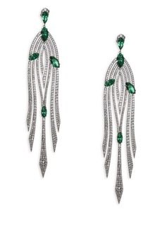 Adriana Orsini Garden Crystal Drop Earrings