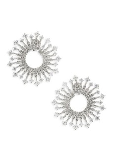 Adriana Orsini Greta Clear Front-To-Back Earrings