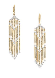 Adriana Orsini Greta Fringe Swarovski Crystal Earrings