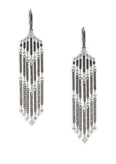 Greta Grey Crystal Drop Earrings
