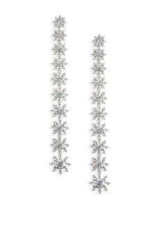 Adriana Orsini Holiday Ear Crystal Petal Drop Earrings