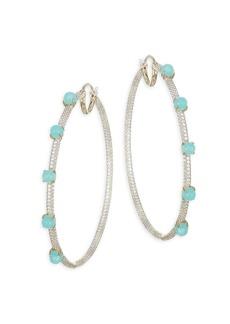 Hues Aqua Hoop Earrings