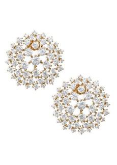 Adriana Orsini Leia Swarovki Crystal Goldtone Button Earrings