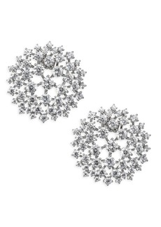 Adriana Orsini Leia Swarovski Crystal Button Earrings