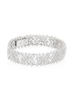 Adriana Orsini Leia Crystal & Rhodium-Plated Flex Bracelet