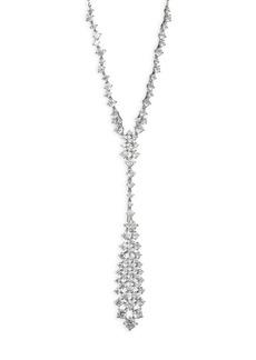 Leia Swarovski Crystal Frontal Drop Necklace