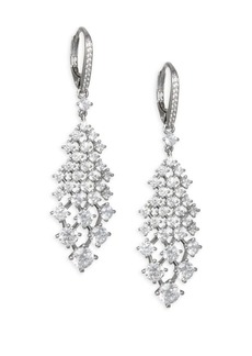 Adriana Orsini Leia Swarovski Crystal Silvertone Drop Earrings