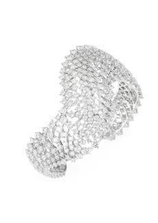 Leia Swarovski Crystal Wave Open Cuff Bracelet