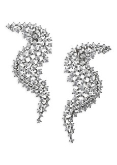 Adriana Orsini Leia Wave Drop Swarovski Crystal Earrings