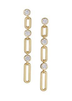Adriana Orsini Linxy 18K Goldplated & Cubic Zirconia Extra-Large Linear Earrings