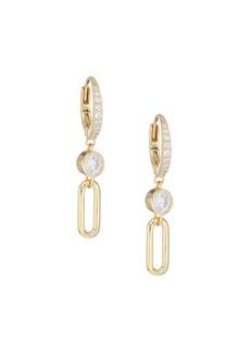 Adriana Orsini Linxy 18K Yellow Goldplated & Cubic Zirconia Link Earrings