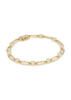 Adriana Orsini Linxy 18K Yellow Goldplated Sterling Silver & Cubic Zirconia Link Bracelet