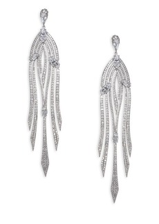 Lush Cascade Pave Earrings