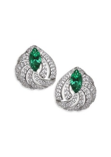 Adriana Orsini Lush Crystal Button Earrings
