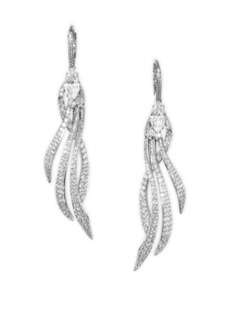 Adriana Orsini Lush Pave Drop Earrings