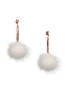 Mink Ball Earrings