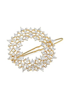 Adriana Orsini Mixed Crystal 18K Yellow Goldplated Barrette