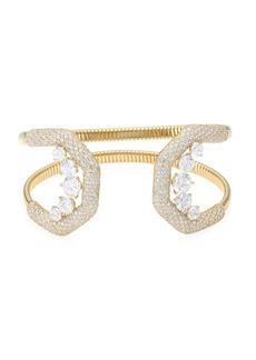 Adriana Orsini Pavé Crystal Flexible Wide Cuff Bracelet