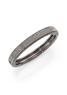 Adriana Orsini Pavé Crystal Four-Row Bangle Bracelet