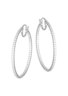 Pavé Crystal Hoop Earrings