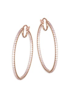 Adriana Orsini Pavé Crystal Hoop Earrings