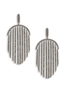 Pavé Fringe Drop Earrings