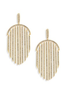 Pavé Fringe Drop Earrings