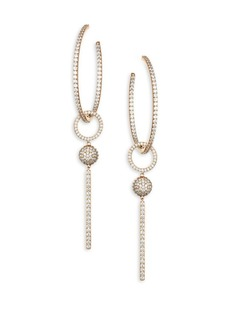 Adriana Orsini Pavé Hoop Drop Earrings