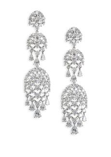 Pave Drop Chandlier Earrings