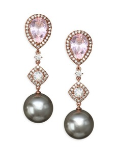 Adriana Orsini Pink Swarovski Pearl Drop Earrings