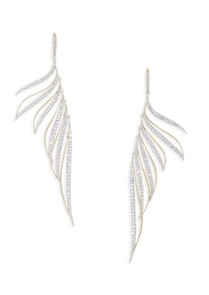 Adriana Orsini Pirouette Crystal Leaf Earrings