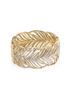 Adriana Orsini Pirouette Leaf Bangle