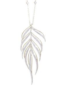 Adriana Orsini Pirouette Leaf Pendant Necklace