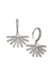 Adriana Orsini Rhodium-Plated & Crystal Ambrosia Fan Hook Earrings