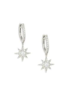 Adriana Orsini Rhodium-Plated & Crystal Drop Earrings