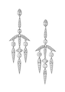 Adriana Orsini Rhodium-Plated Silver & Cubic Zirconia Spiked Mobile Earrings