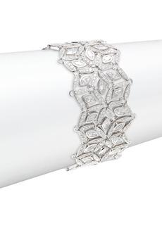 Adriana Orsini Rhodium-Plated Silver & Mixed Cubic Zirconia Wide Cuff