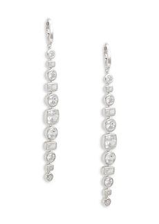 Adriana Orsini Rhodium-Plated Sterling Silver & Crystal Drop Earrings