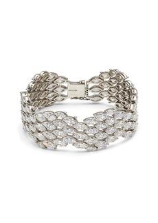 Adriana Orsini Rockslide Plated Sterling Silver & Cubic Zirconia Line Bracelet
