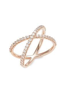 Adriana Orsini Rose Goldtone & Cubic Zirconia Ring