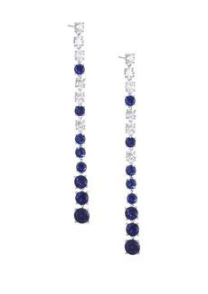 Adriana Orsini Sapphire & CrystalLinear Drop Earrings