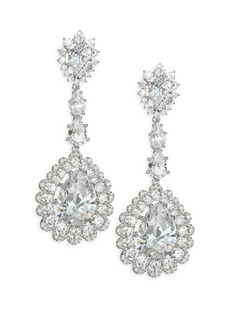 Adriana Orsini Scalloped Crystal Teardrop Earrings
