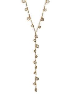 Shaker Swarovski Crystal Y Necklace