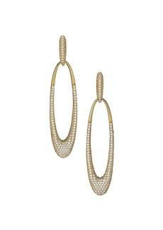 Adriana Orsini Spring Fling 18K Goldplated Sterling Silver & Cubic Zirconia Large Oval Hoop Earrings
