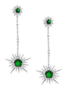 Adriana Orsini Star Long Drop Earrings