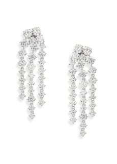 Adriana Orsini Statement Pavé Chandelier Earrings