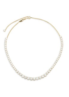 Sterling CZ Essentials Graduated Adjustable Necklace