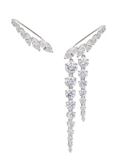 Adriana Orsini Sterling Silver & Cubic Zirconia Mismatched Ear Crawlers