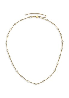 Adriana Orsini Svelte 18K Yellow Goldplated Cubic Zirconia Station Chain Necklace